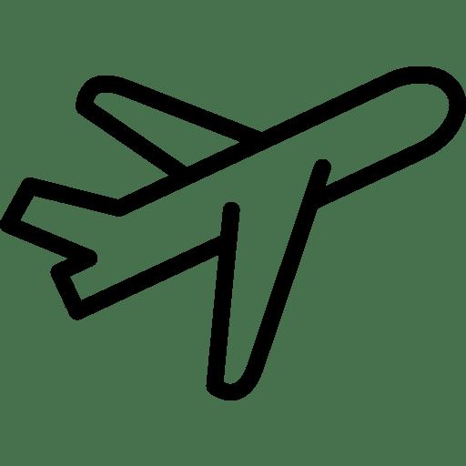 Ikon illustrasjon av et fly